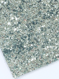 Silver Chunky Glitter Fabric Sheet 0.9mm