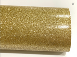 Pale Gold Fine Glitter Effect Smooth Glitter Fabric Sheet Thin 0.75mm