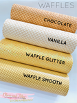 Waffle Faux Leather and Waffle Glitter Fabric Sheets