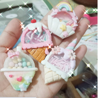 Ice Cream Shaker Clay Embellishments