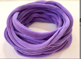 PURPLE Nylon Headbands, Soft Nylon Bands, Baby Headbands, DIY Bows, Hair Bow Supplies, DIY Supplies, One Size Fits Most Headbands