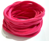 FLAMINGO PINK Nylon Headbands, Soft Nylon Bands, Baby Headbands, DIY Bows, Hair Bow Supplies, DIY Supplies, One Size Fits Most Headbands