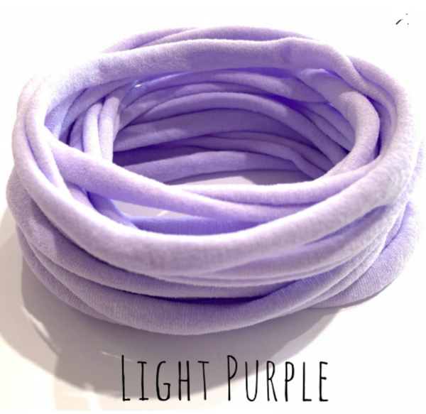 LIGHT PURPLE Nylon Headbands, Soft Nylon Bands, Baby Headbands, DIY Bows, Hair Bow Supplies, DIY Supplies, One Size Fits Most Headbands