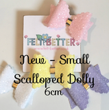 Small & Medium Scalloped Dolly Bow Die