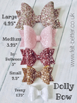 Dolly Bow Trio Trace and Cut Plastic Bow Template