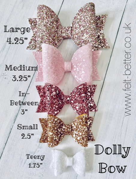 PRE ORDER Dolly Bow Trio Bow Die - Small, Medium and Large - Sizzix Big Shot Compatible