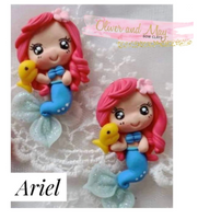 Ariel Mermaid Bow Clay Embellishment