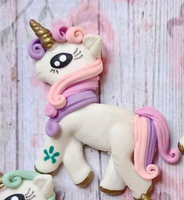Unicorn Bow Clay Embellishments
