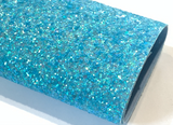 Blue Chunky Glitter Fabric Sheets