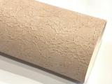 Nude Floral Lace Embossed Leatherette