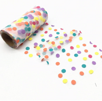 "White Dotty Tulle 5.11"" 13cm x 10 Yard Roll"
