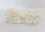 10 Pcs Mulberry Paper Flowers  1-2cm Cherry Blossoms - Off White