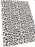 White Leopard Faux Leather Fabric