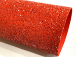 Red Christmas Matching Back Chunky Glitter Canvas Fabric Sheet