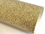 Gold Mesh Glitter Grid Stitch Fabric Sheet