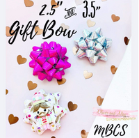 "Gift Bow Steel Rule Die in choice of 2 sizes - 2.5"" Gift Bow OR 3.5"" Gift Bow"