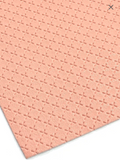 Peach Cross Embossed Faux Leatherette Fabric Sheet