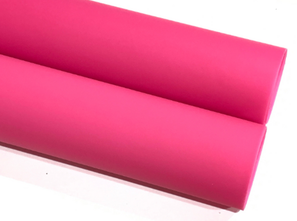 Berry Pink Jelly Soft Touch PVC Fabric A4 Sheets