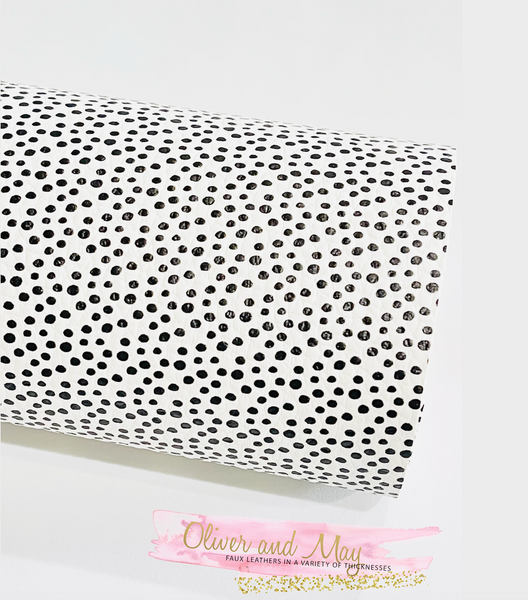 Vintage White and Black Dotty Faux Leatherette from Franchi-a-Pipo London
