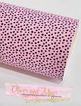 Vintage Pink and Black Dotty Faux Leatherette from Franchi-a-Pipo London