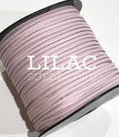 Lilac Faux Suede Cord - 5m - Lilac Pink Suede Cord