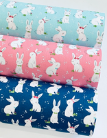 Winifred Rose Fabric Felt - Navy Bunny and Coordinating Petite Floral - Limited Stock