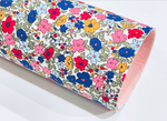 Bright Floral Fabric Felt Sheet - Fabric Felt Bows - Double Sided Fabric