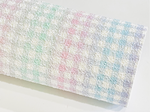 Pastel Rainbow Plaid Matte Chunky Glitter Fabric