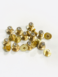 Sam Browne Stud Screw Rivet with and without Stone - Lots of 10 or 25 - Gold or Silver