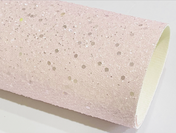 Baby Pink Frosted Pastel Chunky Glitter with Hexagonal Sequins