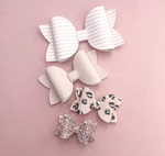 Beauty Bow Cut and Trace Template - Plastic Hairbow Templates - all 3 Sizes in one pack