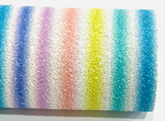 Rainbow Striped Chunky Glitter Leather