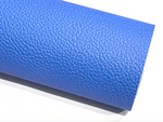 Blue PU Leather Thick 1.2mm Litchi Print Leatherette