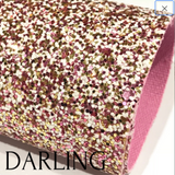 Darling Pink White Gold Matching Back Chunky Premium Glitter