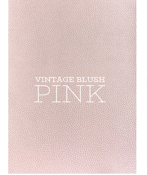 Vintage Blush Pink Textured Leatherette Sheet A4 or A5 Size Pink Faux Leather Fabric  PU Leather Thick 1.0mm Litchi Print Leatherette