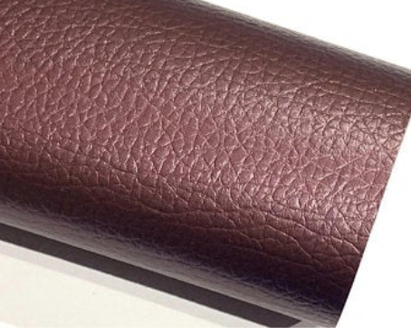 Plum Pearl Leatherette Sheet 0.6mm Thin Leatherette. Perfect for button earrings