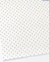 White Faux Fur with Gold Glitter Dots Fabric Sheet