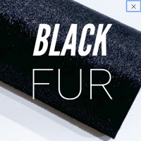Black Faux Fur Sheet