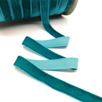 Velvet Ribbon - 25mm - Teal - 3 yard lot.