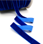 Velvet Ribbon - 25mm - Royal Blue - 3 yard lot.