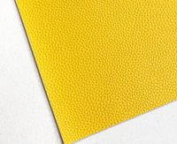 Sunshine Leatherette Sheet A4 8X11 or A5 Size Yellow Thick 1.0mm Litchi Print Leatherette