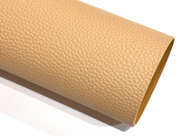 Pale Tan Textured Leatherette A4 Sheet 1.0mm Litchi Print Leatherette