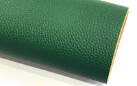 Bottle Green Textured Leatherette A4 1.2mm Thick Litchi Print Leatherette