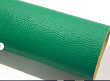 Jade Green Textured Leatherette A4 1.2mm Thick Litchi Print Leatherette