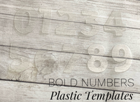 "BOLD Numbers Trace and Cut Plastic Templates - 10 Piece set of 3cm 1.18"" numbers"