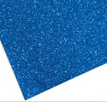 Royal Blue Fine Glitter Fabric Sheet