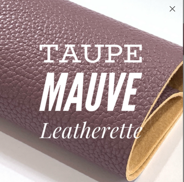 Taupe Mauve Leatherette Fabric Sheet 1.2mm thick