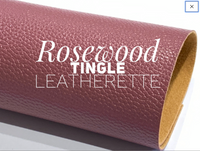 Rosewood Tingle Faux Leather Fabric Sheet 1.1mm