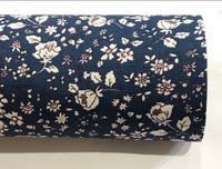 Floral Blue Double Sided Fabric Sheets