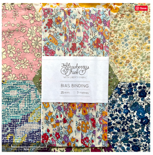 Tatum X Liberty of London Bias Binding -20mm - 100% cotton Liberty Tana Lawn - 3m 3.28 Yards